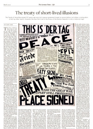 The Treaty of Versailles signed 100 years ago was not a